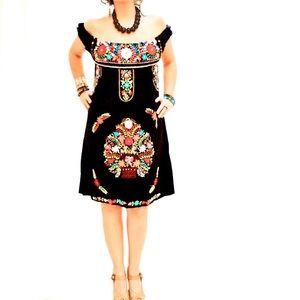Mexican Dress Embroidered Aida Coronado